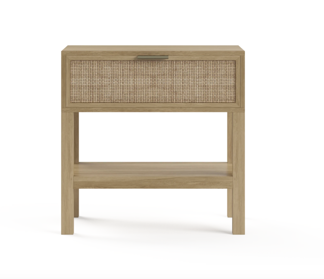 Caledonia Rattan Bedside table from Brosa