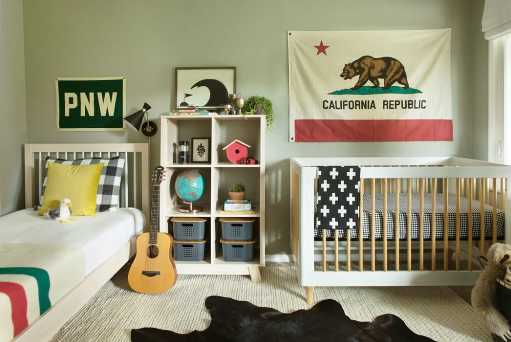 Small shared kids bedroom
