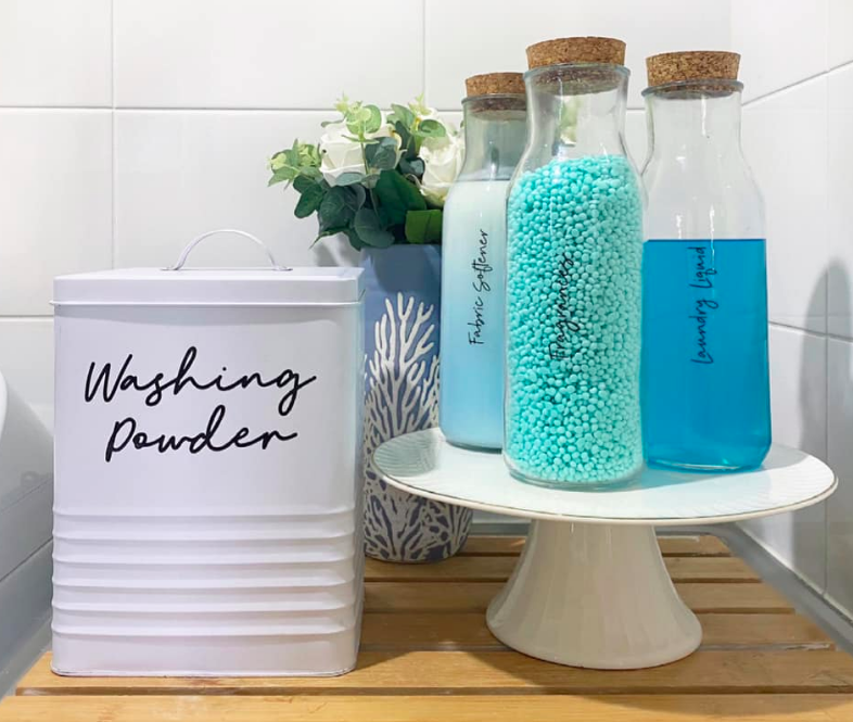 Laundry storage solutions using Kmart products