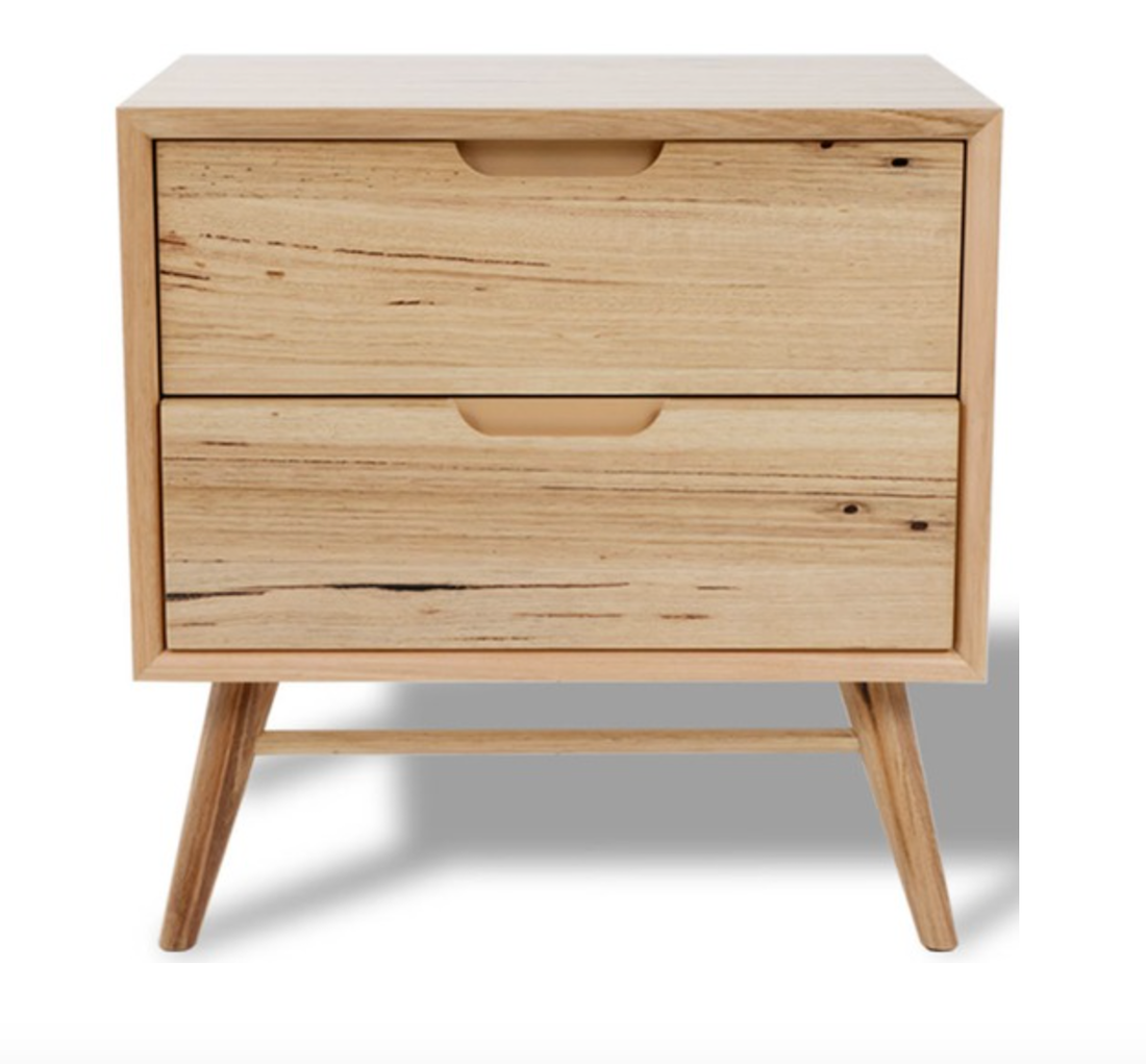 timber bedside table Marley Messmate by Temple and Websters
