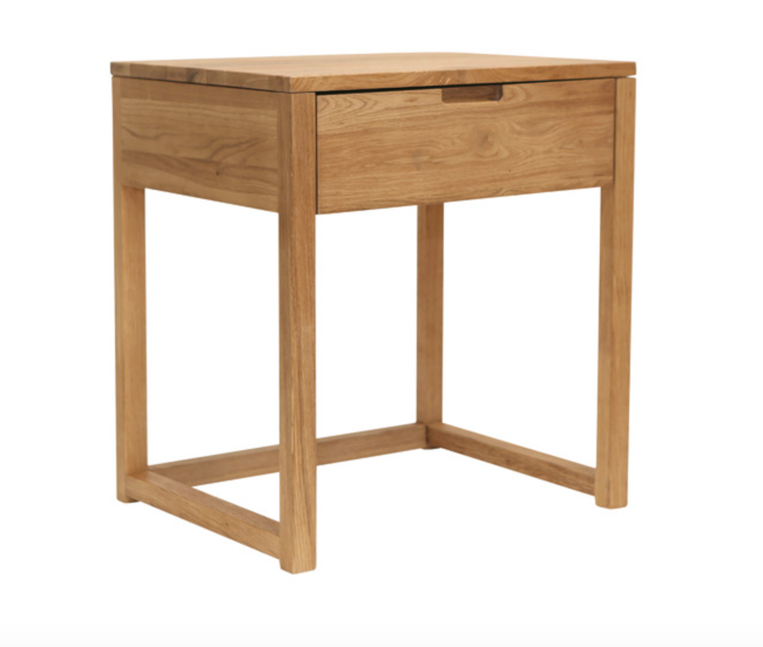 Timber bedside table Olwen Oak Wood Bedside table from Temple and Webster