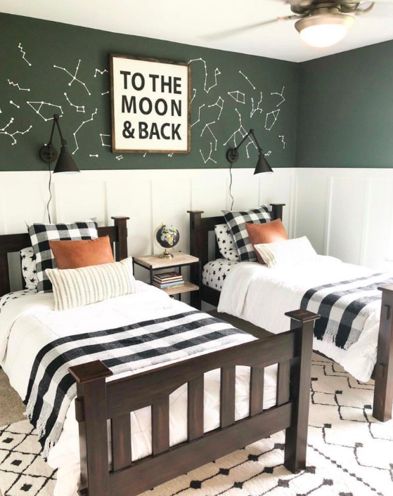 Matching shared kids bedroom