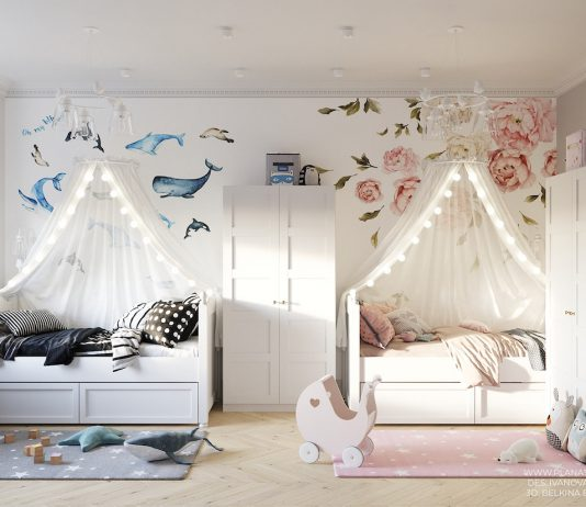 Shared girls and boys bedroom