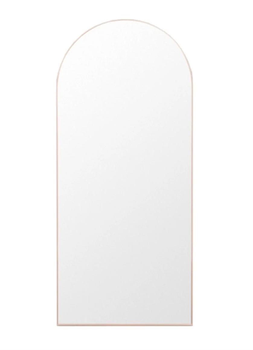Bjorn arch floor mirror in blush