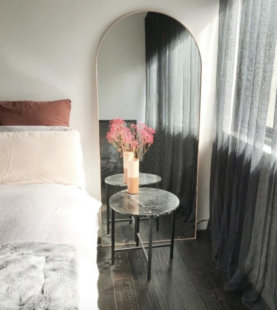 Bjorn Arch floor mirror