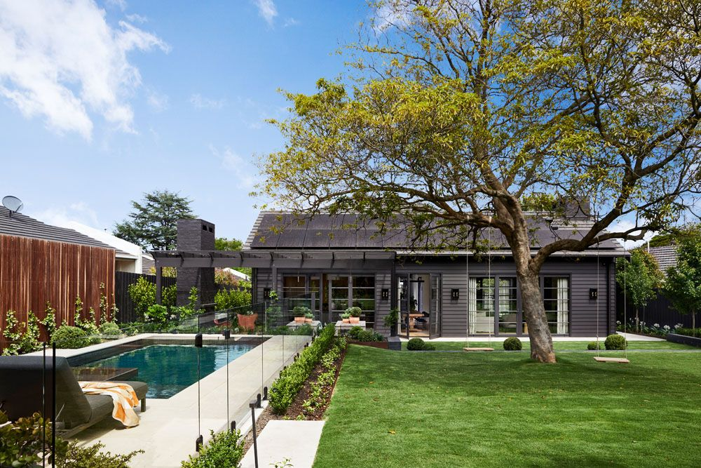 Landscaped garden and pool