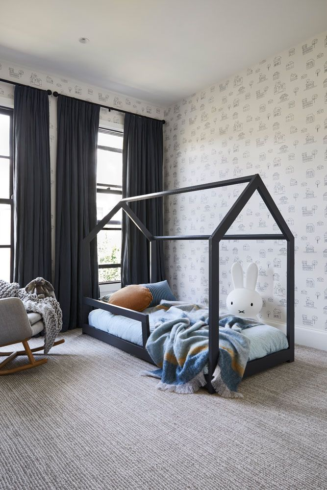 House bed in kid's room