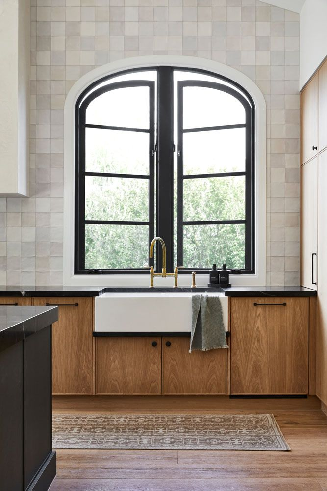 Where to position kitchen sink