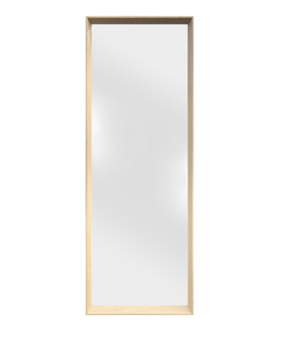 Blonde block full length mirror from Temple and Webster