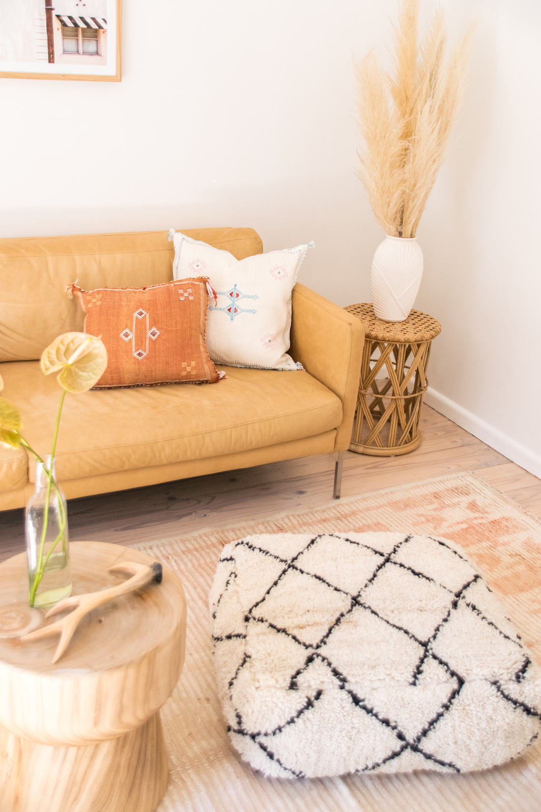 Living room styled with Moroccan homewares