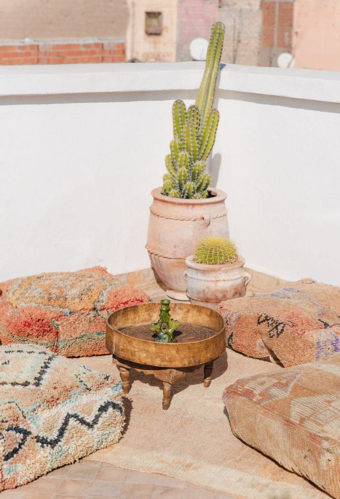 Large Moroccan floor cushions from Beni Kesh