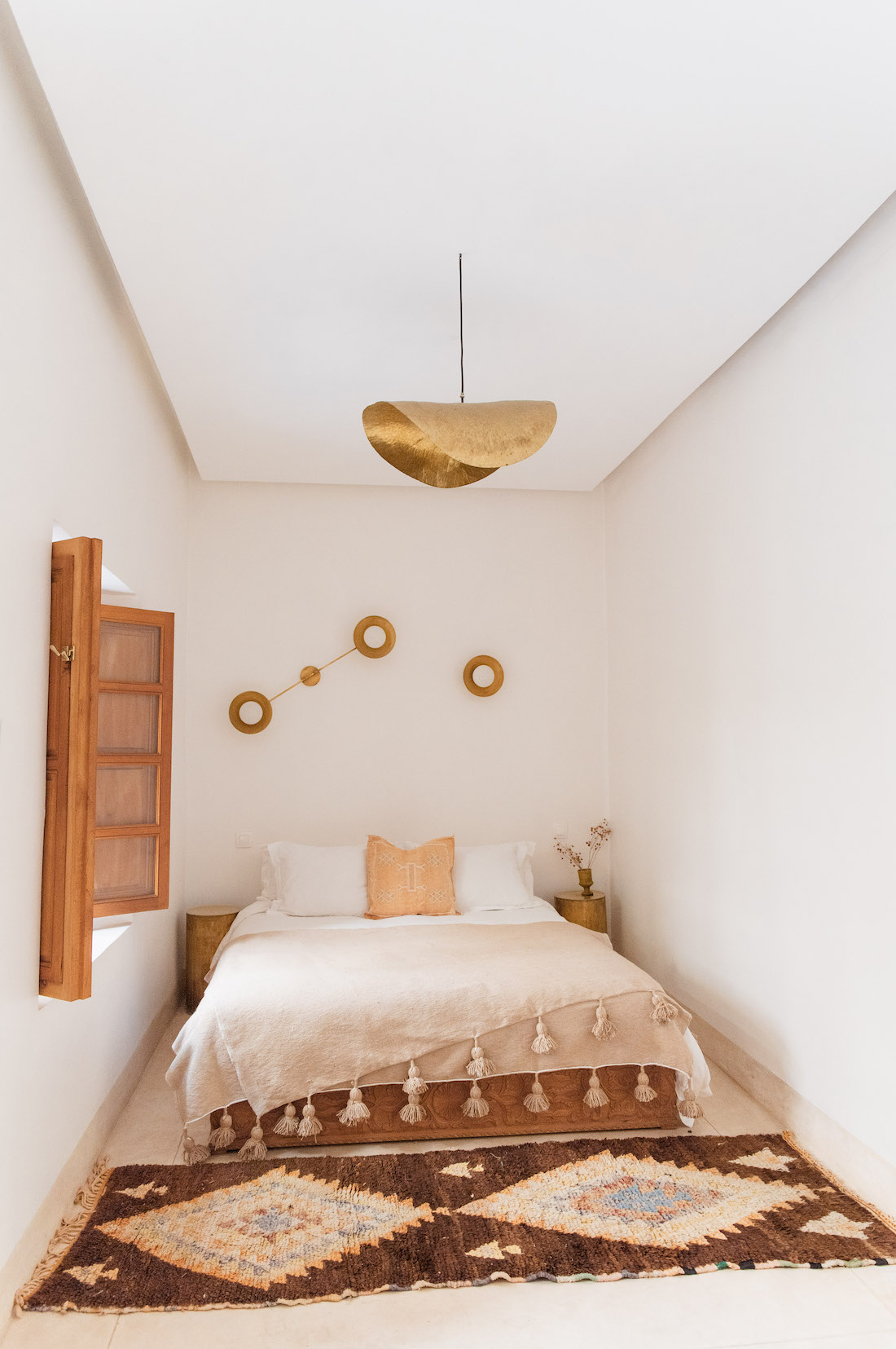Bedroom styled with Moroccan homewares from Beni Kesh