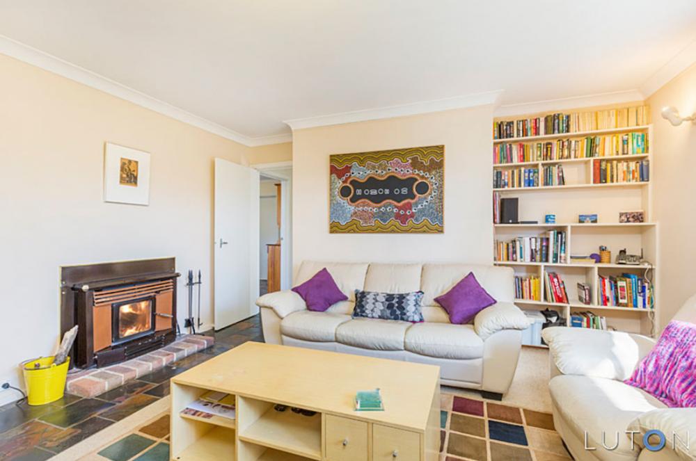 Evatt House living room before