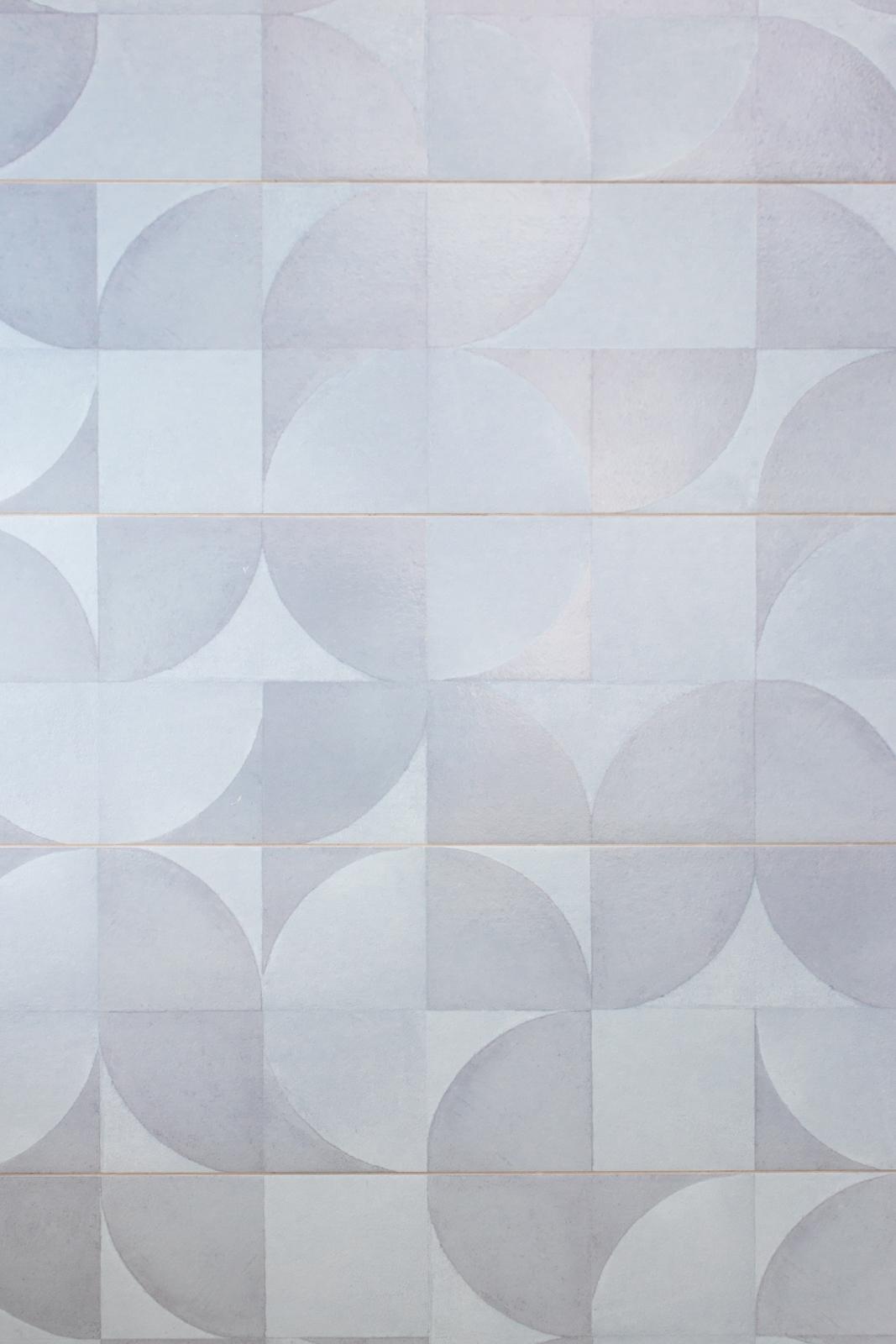 Blue grey mosaic tile