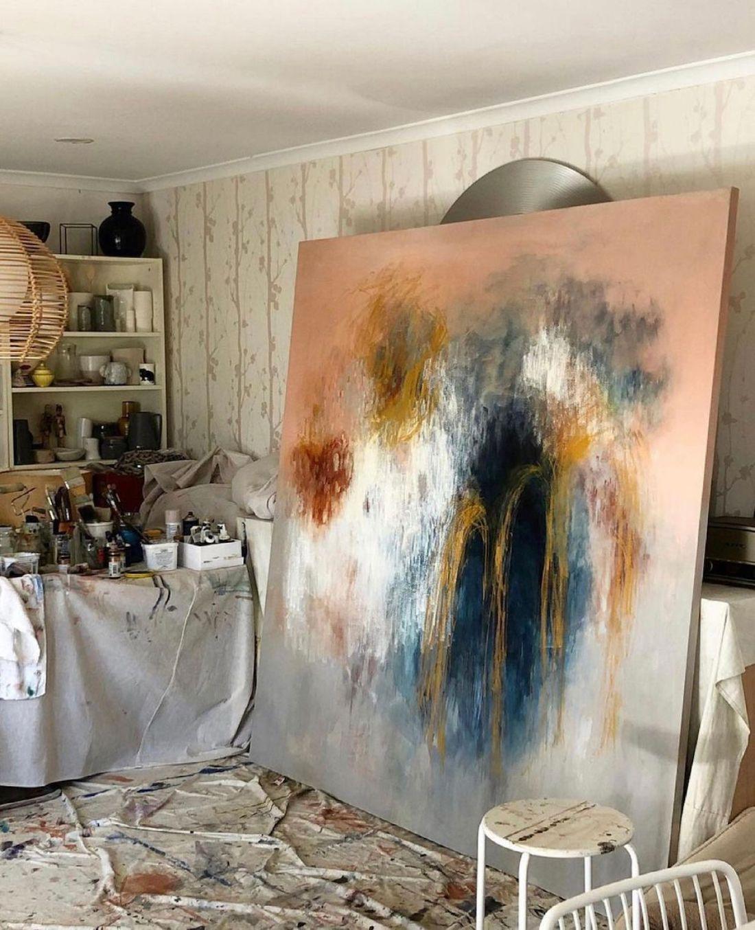 FeatherHorse_artist_art in studio