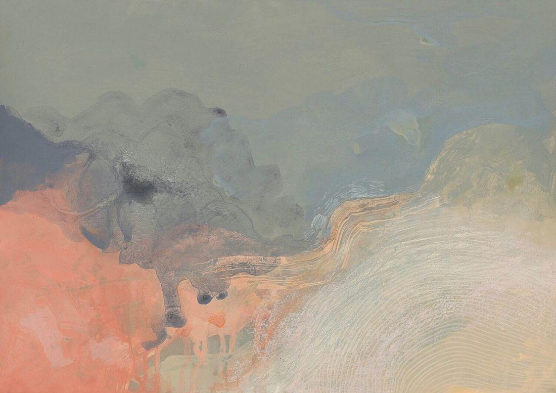 FeatherHorse_artist_close up of blue and pink art