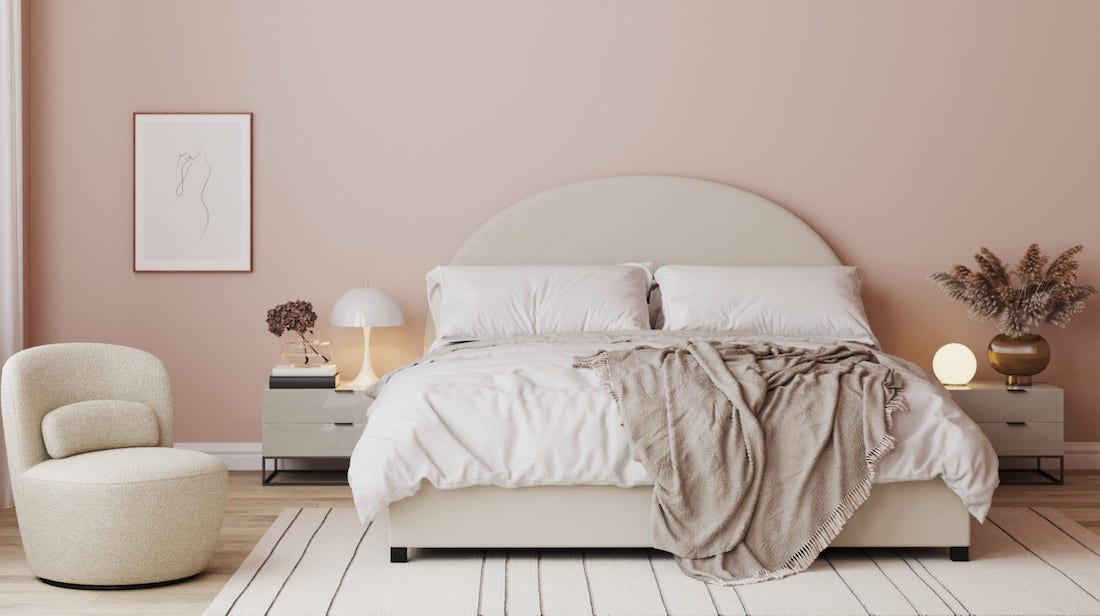 Gas lift beds offer valuable storage space in small space decorating