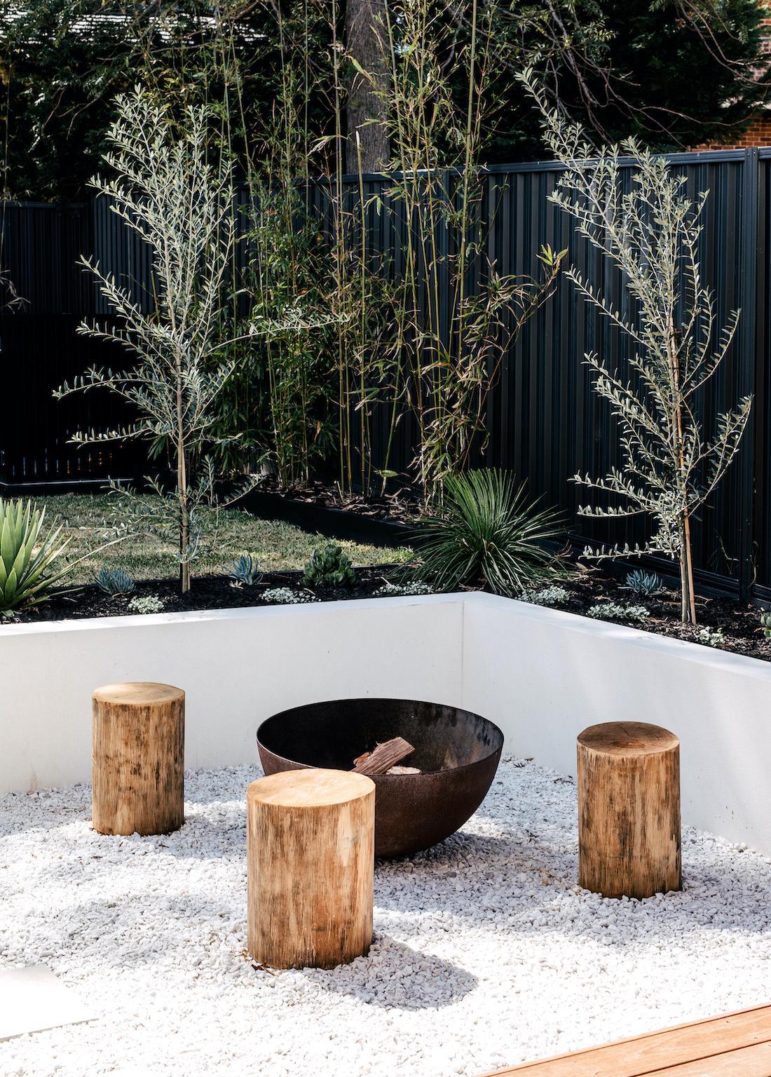 creating two modern backyards