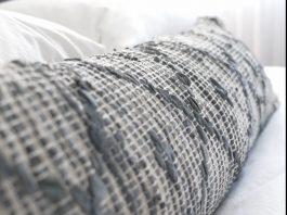 Lumbar cushion close up