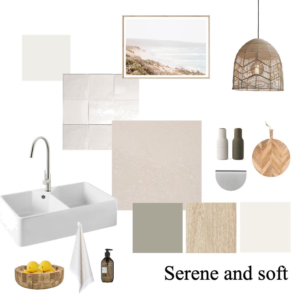 Serene kitchen scheme