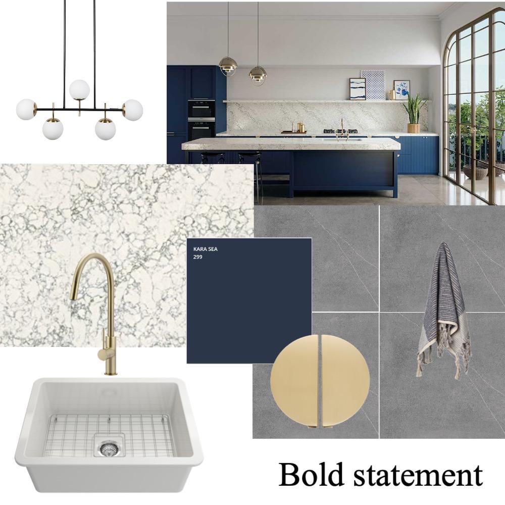 Bold kitchen scheme