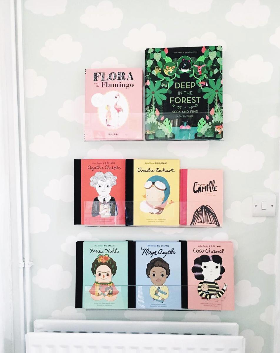 Acrylic book shelf