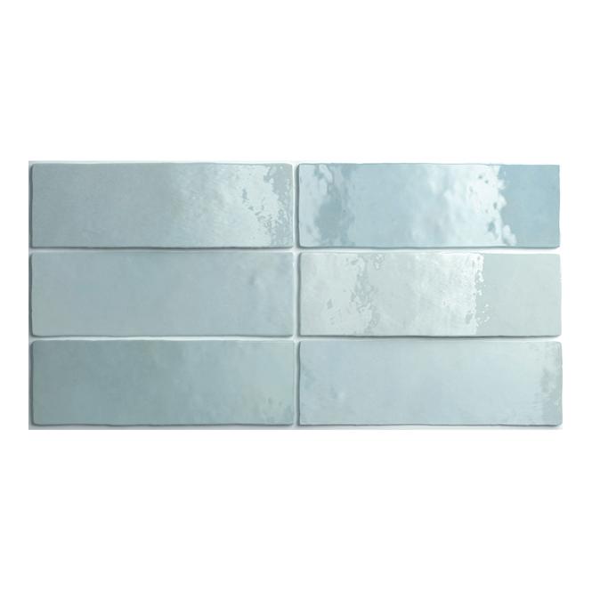 Aqua blue subway tile