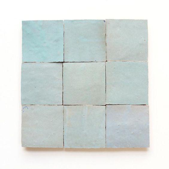 Blue Zellige tile