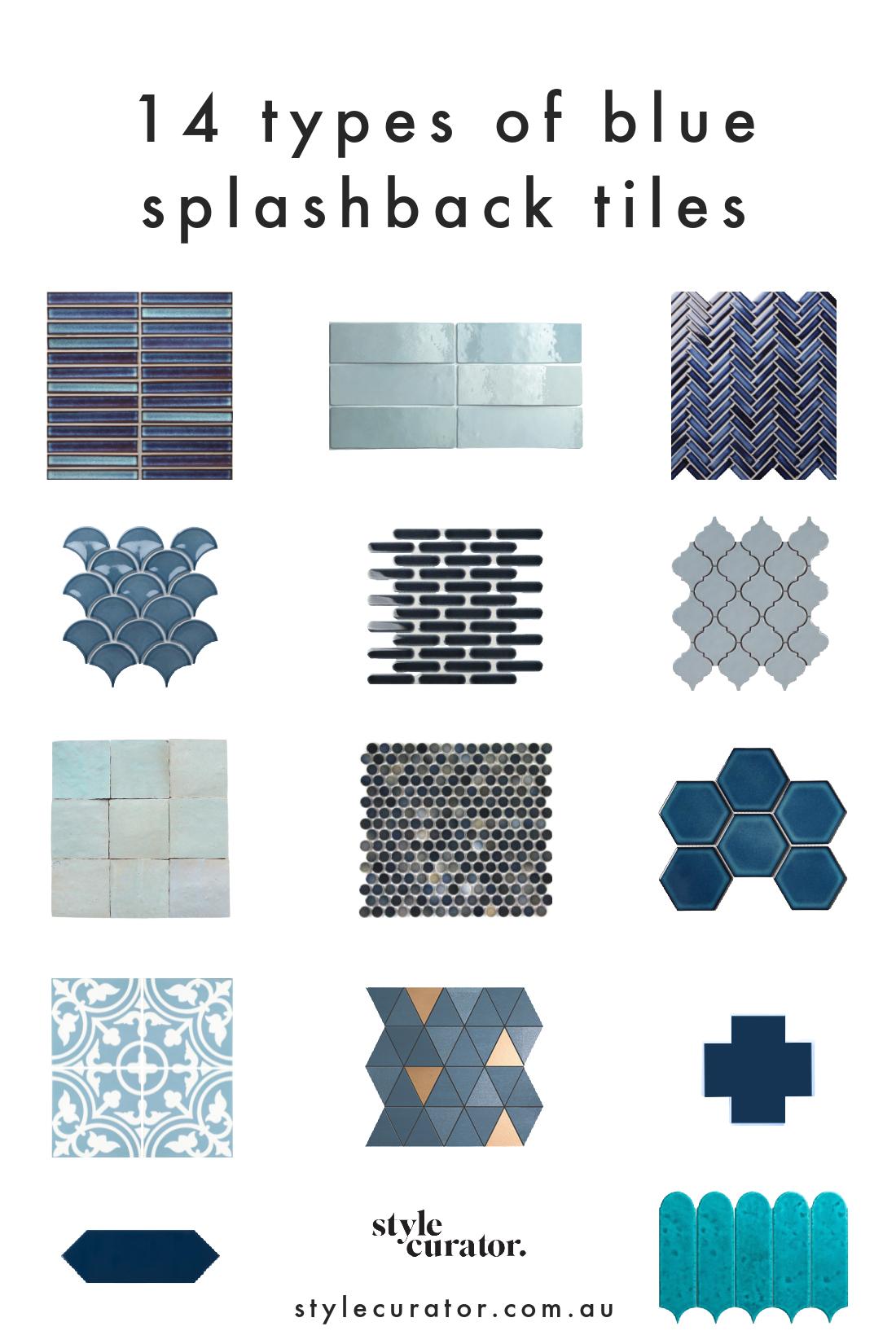 Blue splashback tiles