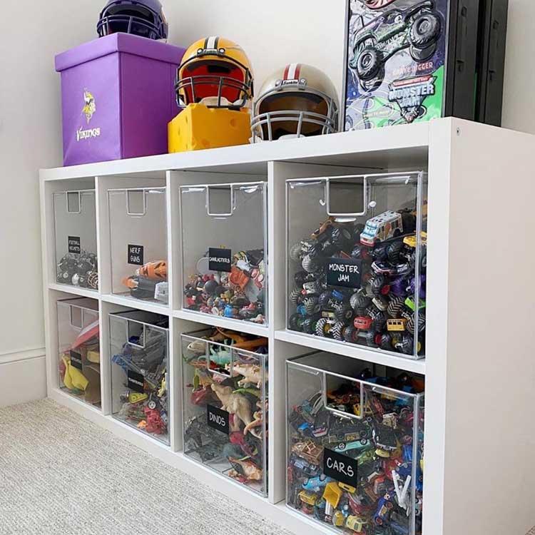 Clear storage bins for kids toys