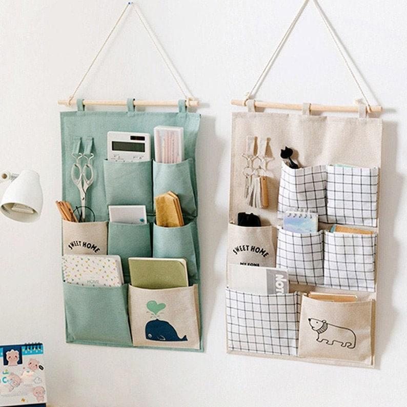 Hanging pockets back of door storage ideas