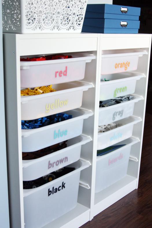 Lego organising and storage
