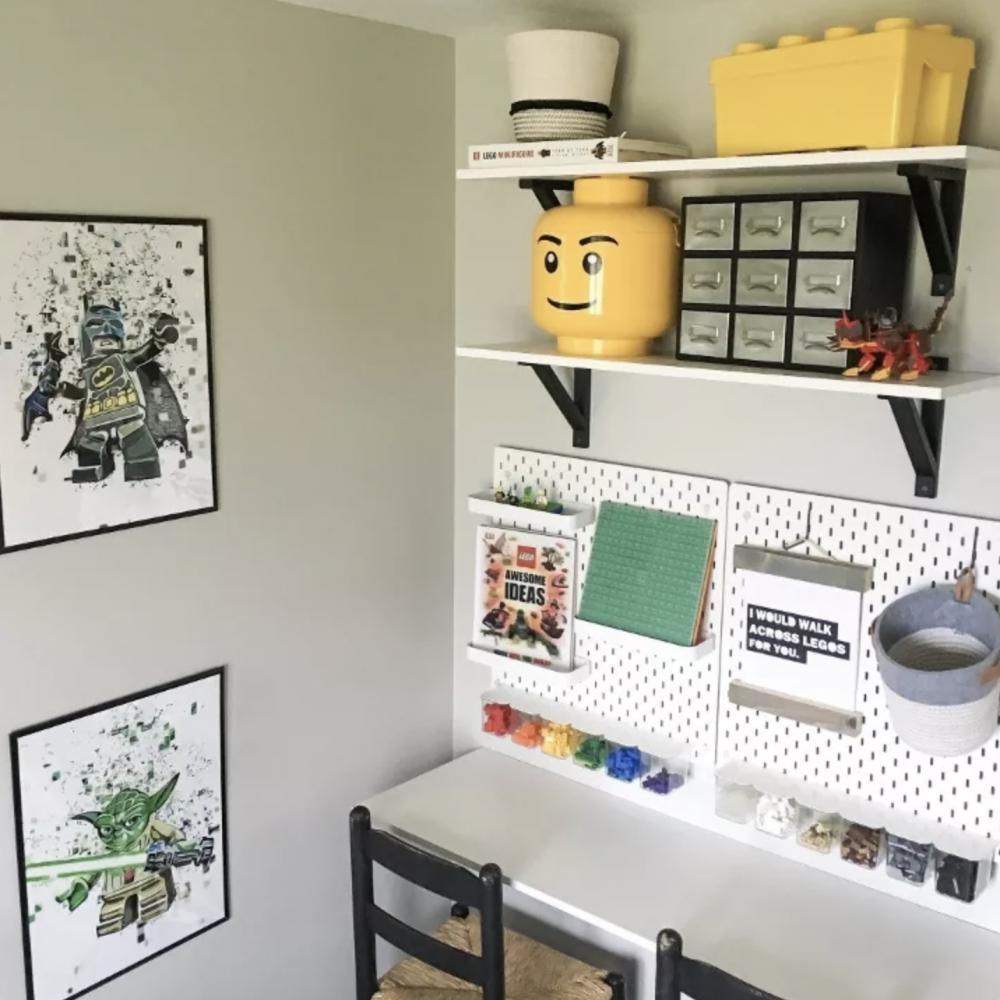 Lego desk organisation
