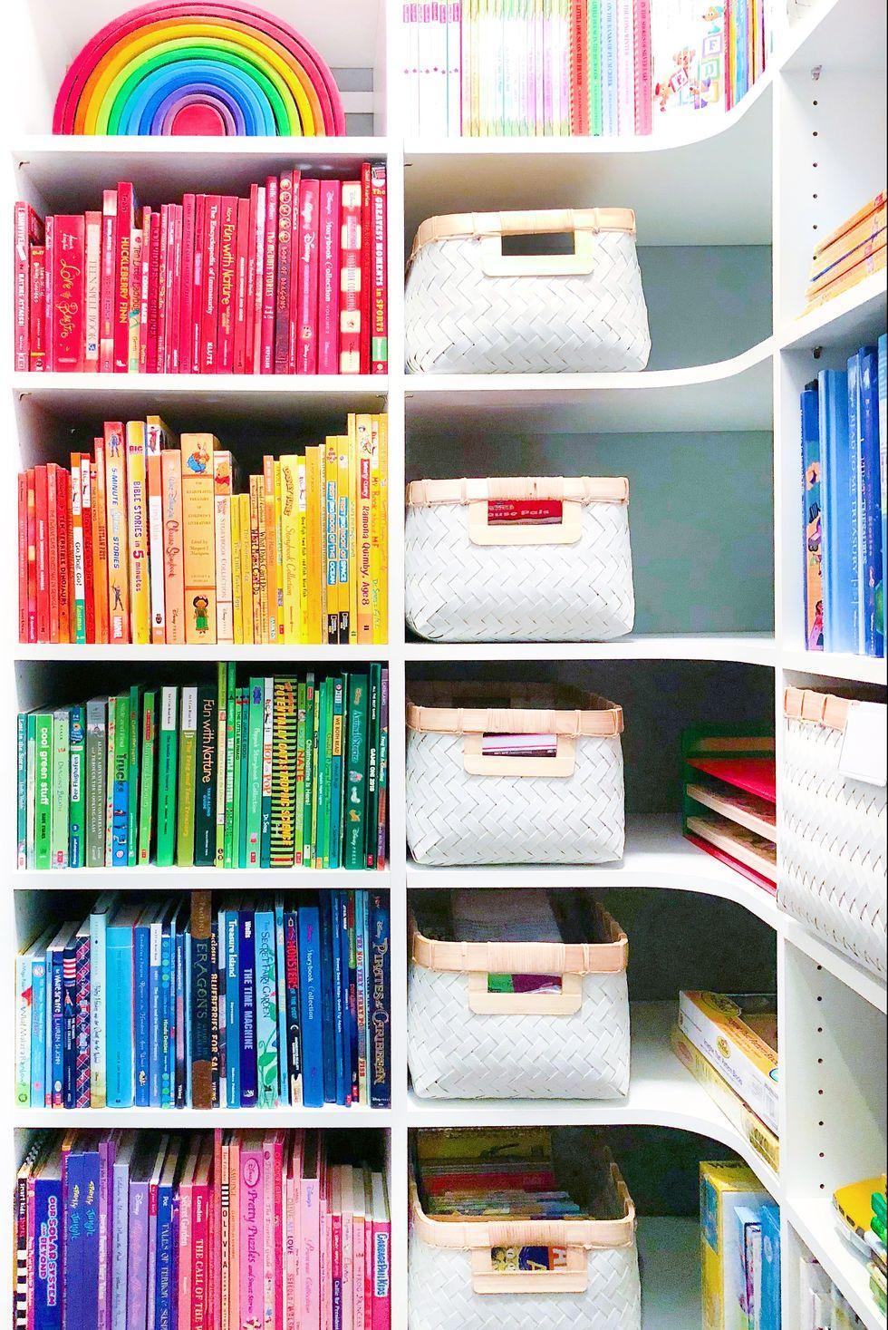Rainbow book storage