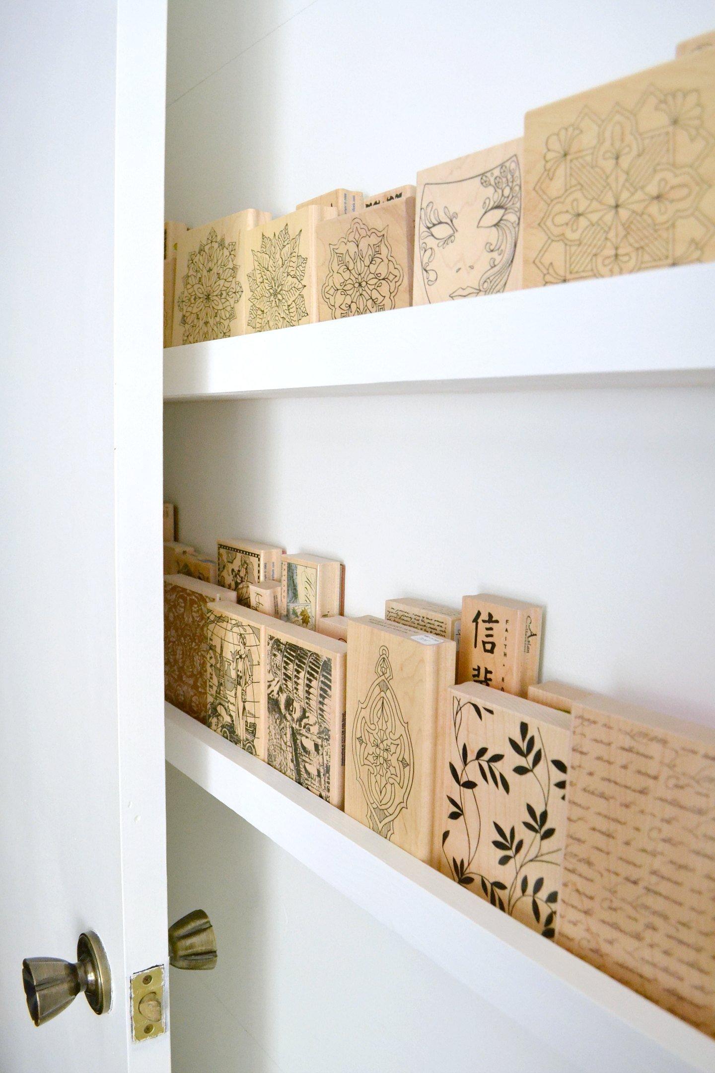 Shelves behind the door