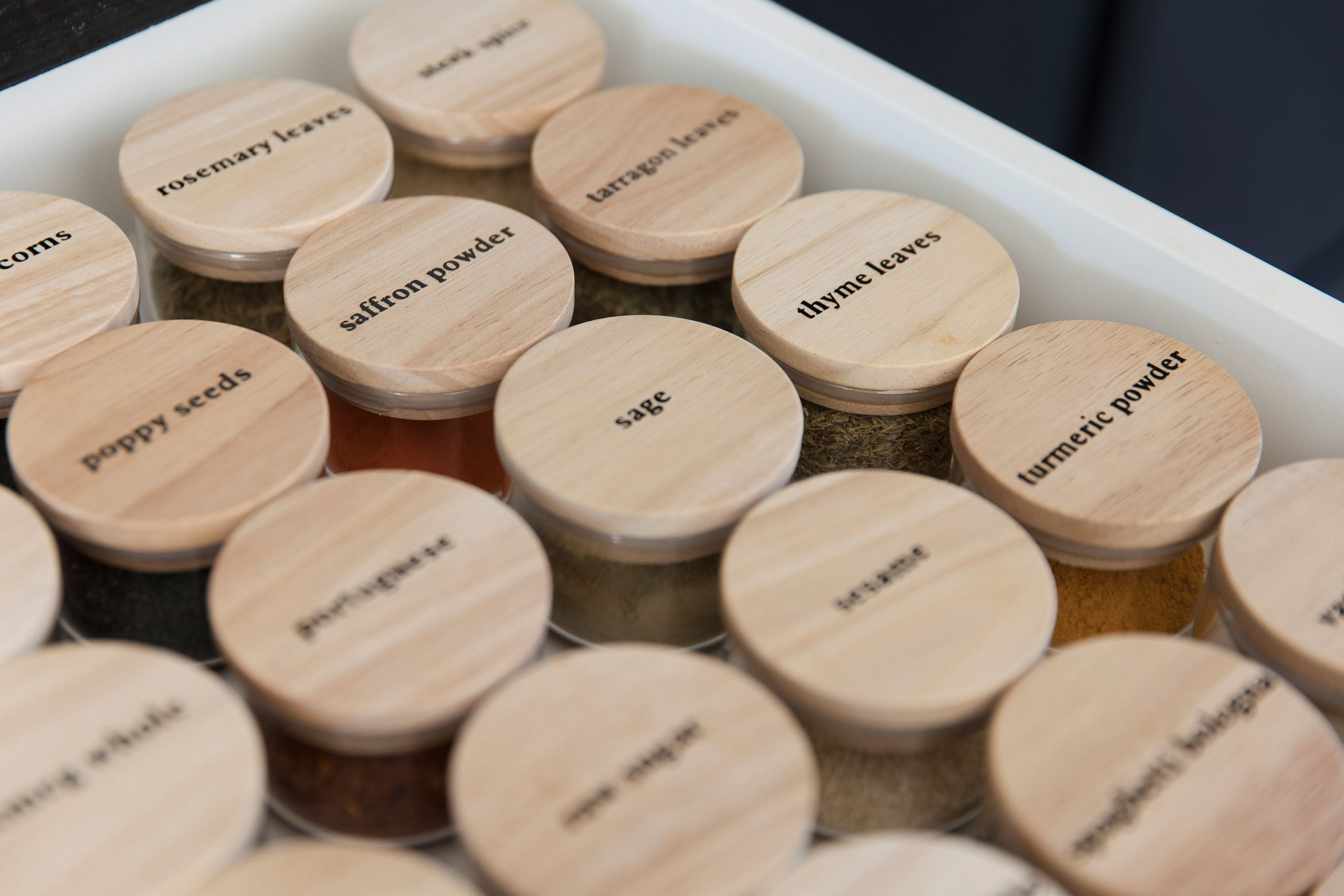 Close-up of ultimate spice drawer