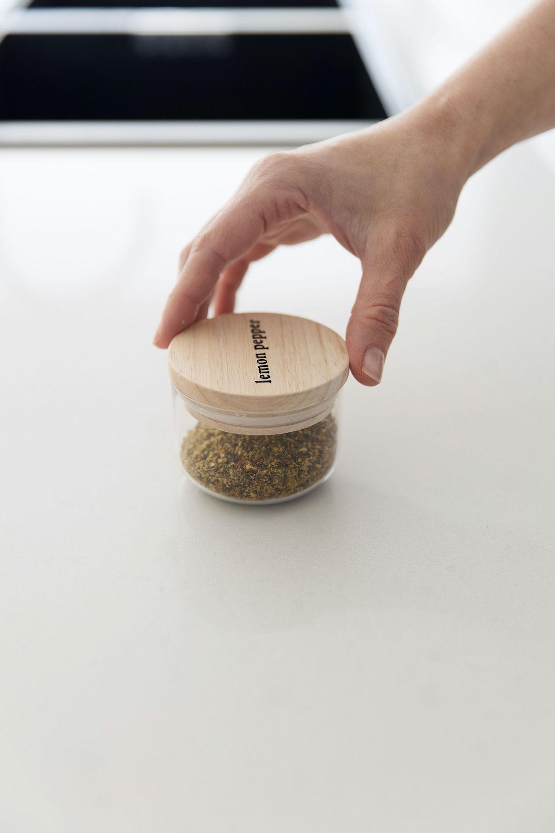 Lemon pepper jar using Kmart canister