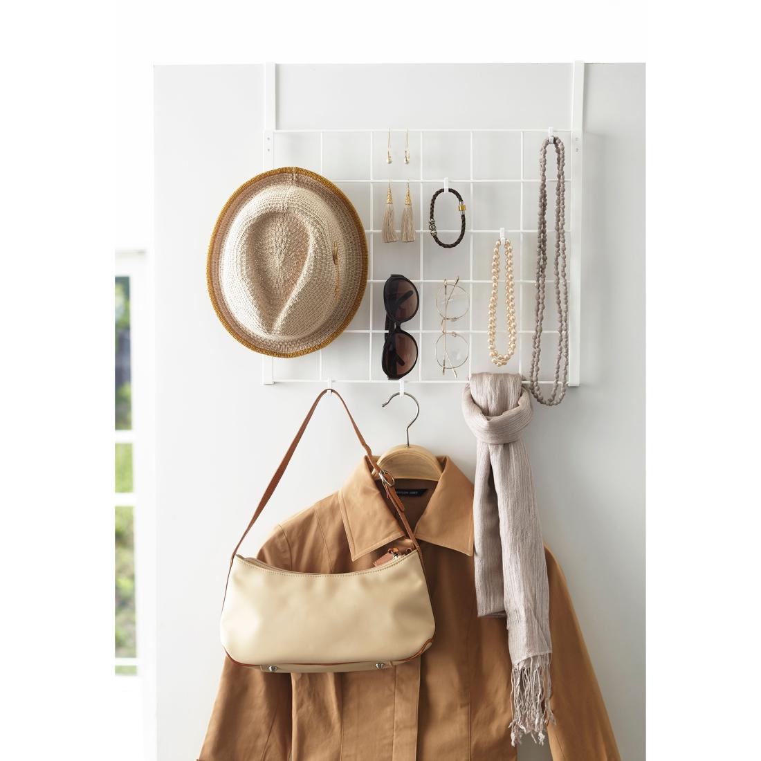 Over the door accessory holder back of door storage ideas