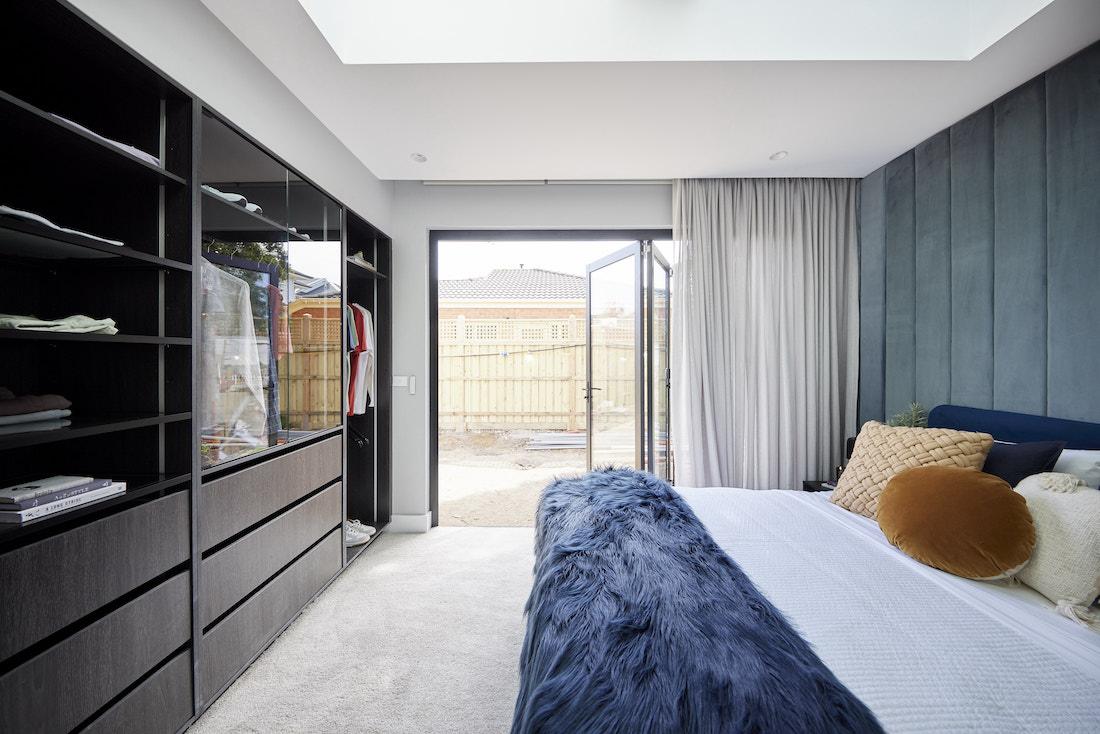 Bifold doors from guest bedroom