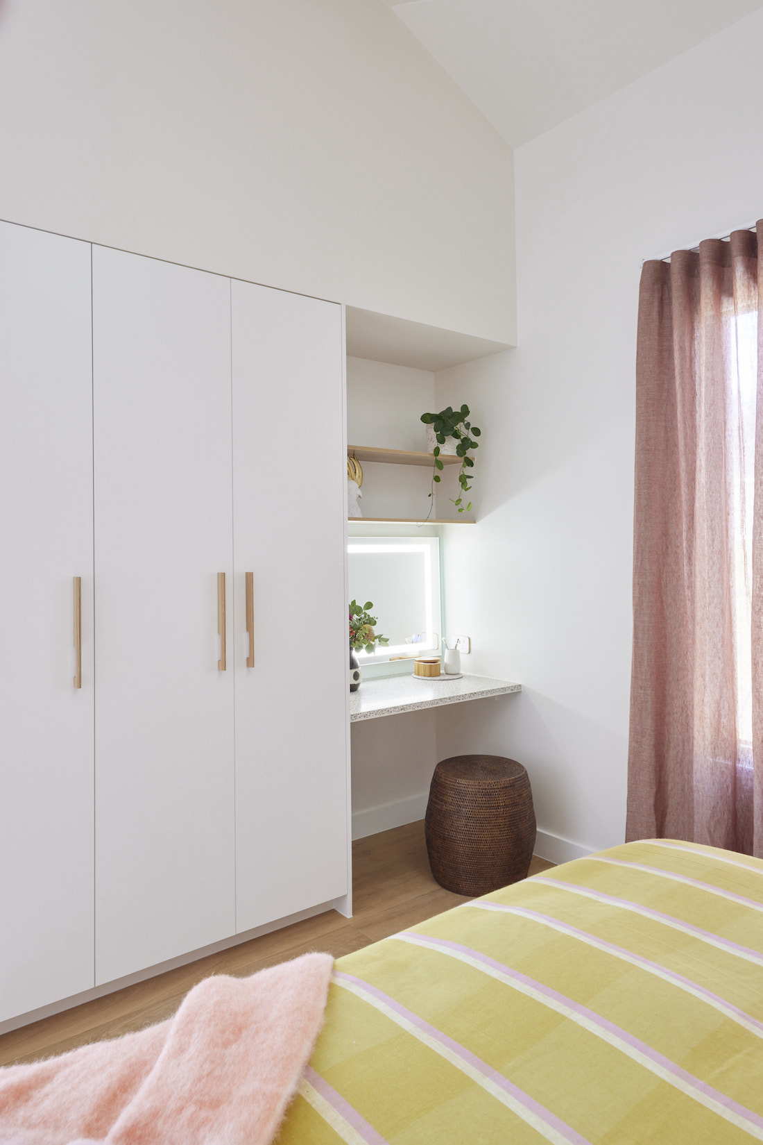 Built in wardrobes with makeup area