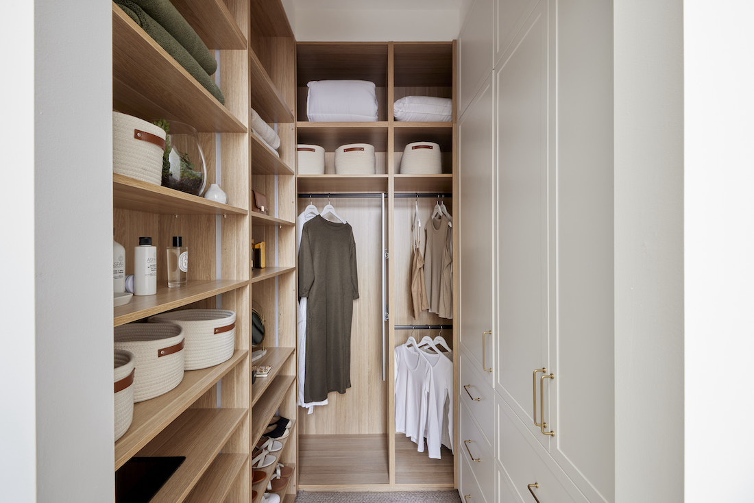 Master bedroom walk in wardrobe