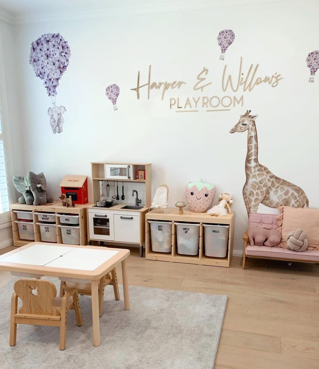 Playroom storage and decoration ideas