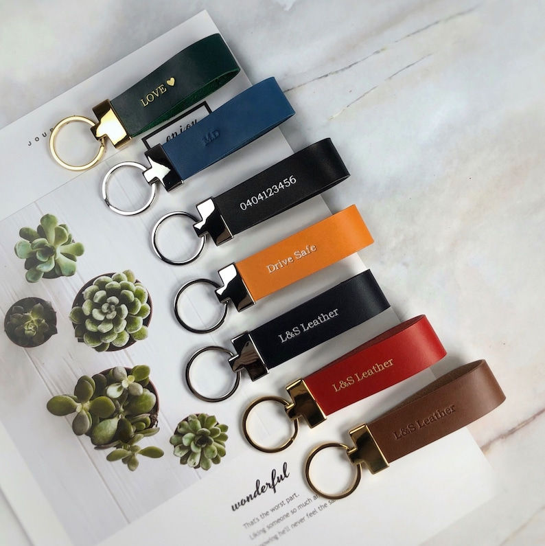 Monogrammed keyring Father's Day gift guide
