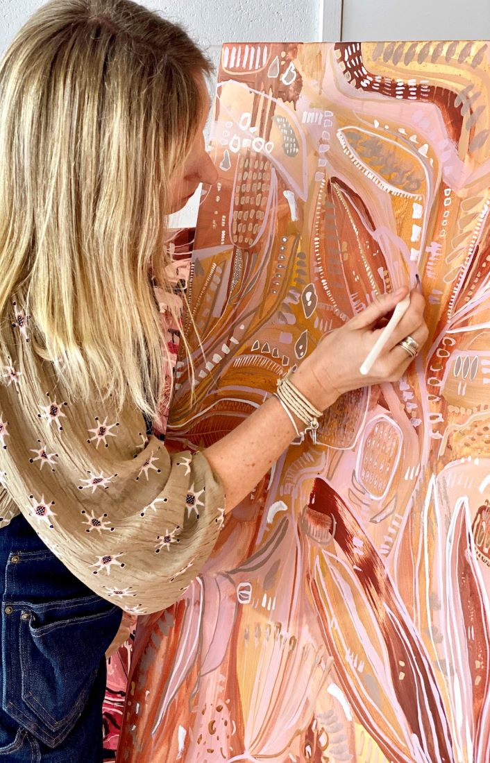 CarleyBourne_painter_Carley painting_Botanical Colourful Abstracts