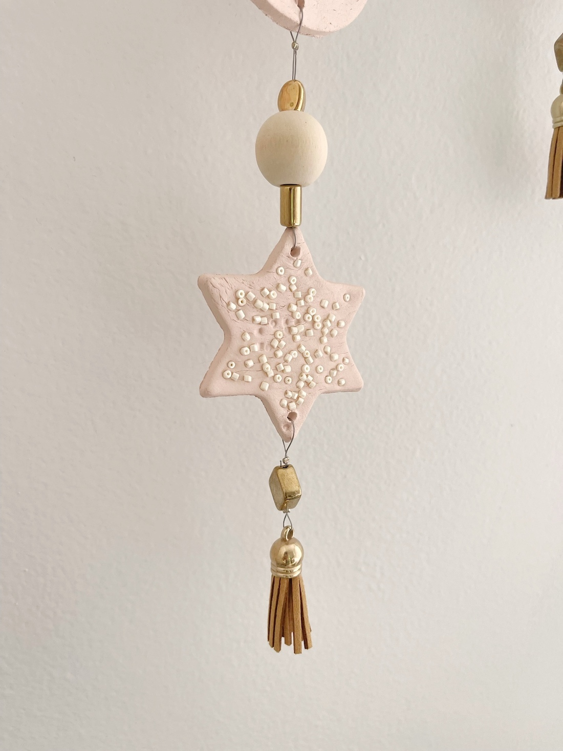 Finish each strand with a tassel