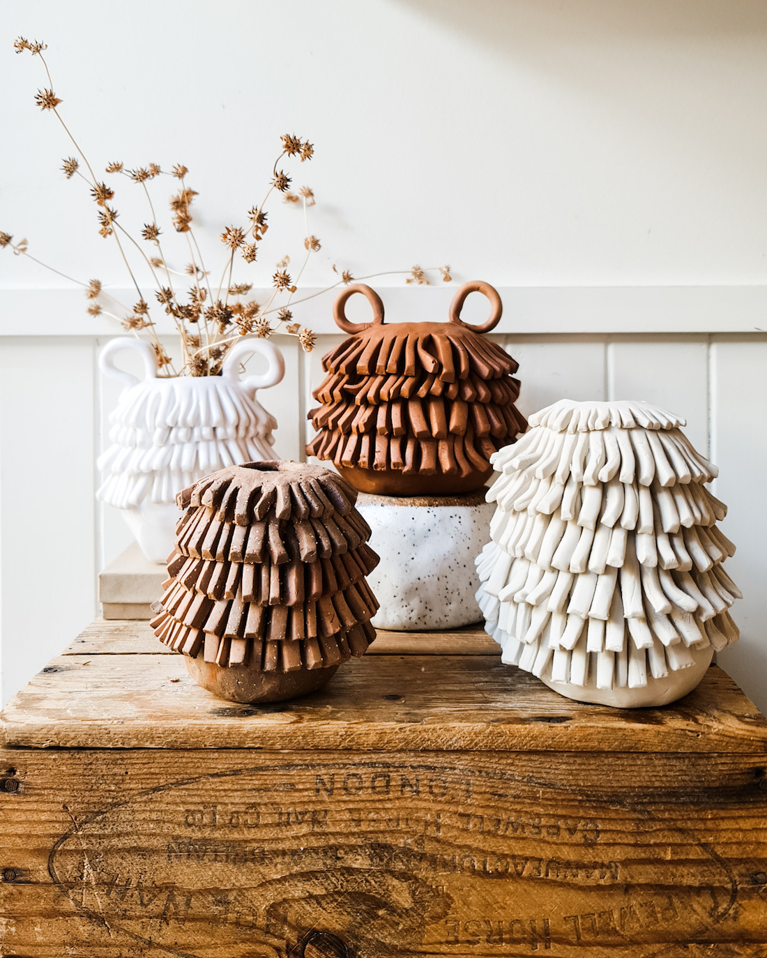 The Seasonal Ceramicist_shaggy vases