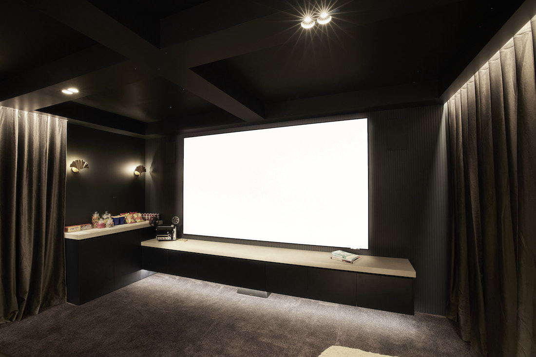Giant projector at home cinema