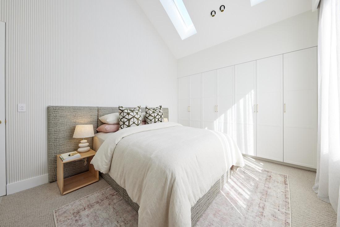 Built in wardrobe in bedroom space