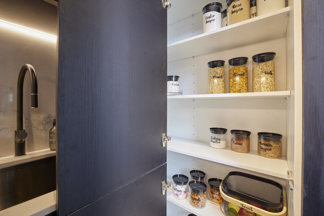 Shelving in butlers pantry