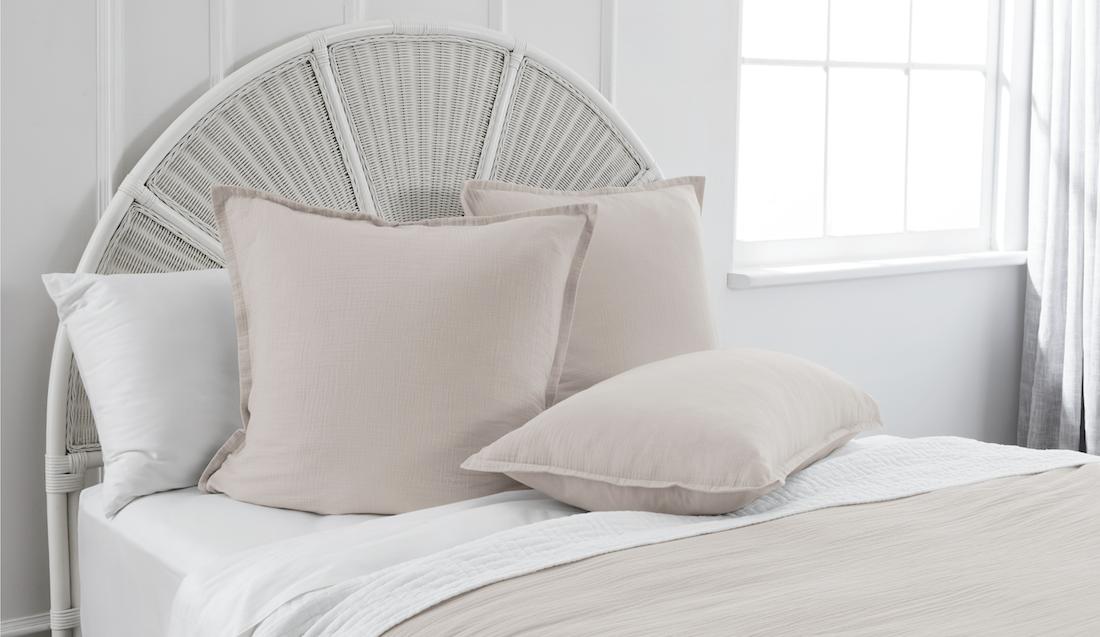 Home Beautiful Euro pillowcases